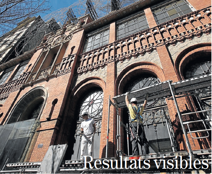 L'empresa Groc restaura la façana de la Fundació Antoni Tàpies